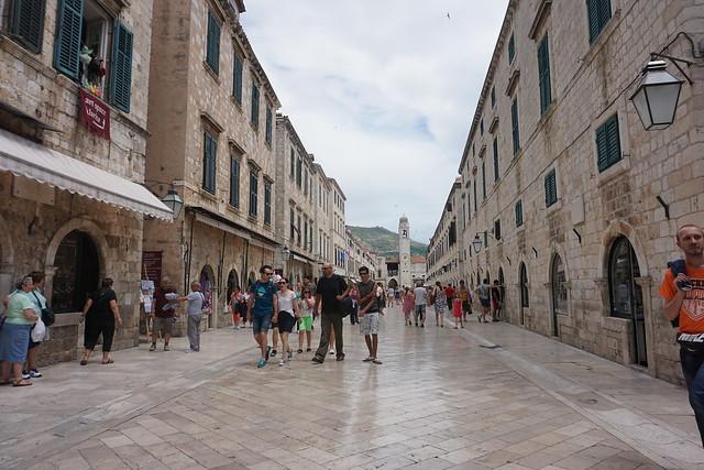 St Dominika Street and Stradun, Dubrovnik