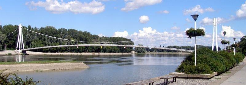 Pedestrian Bridge in Osijek