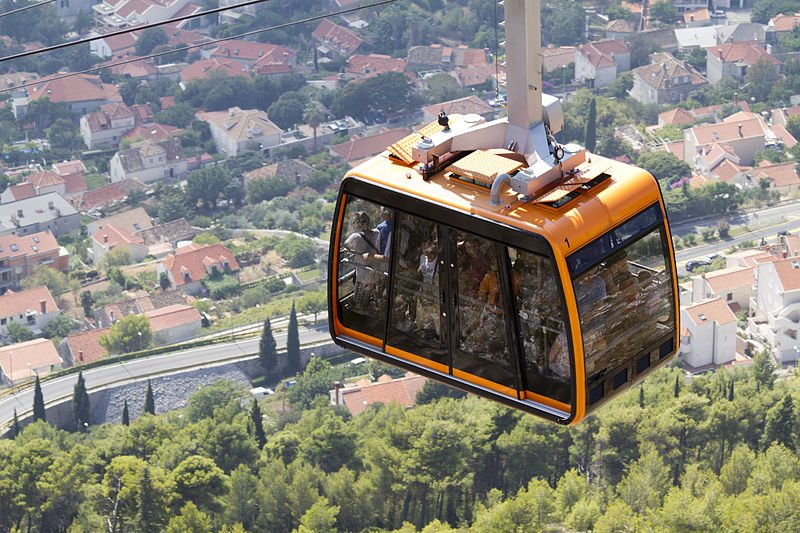 cable car in dubrovnik