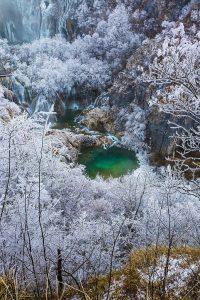 Plitvice_Lakes croatia in winter